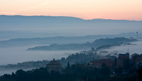 Sunrise from Todi Piaza