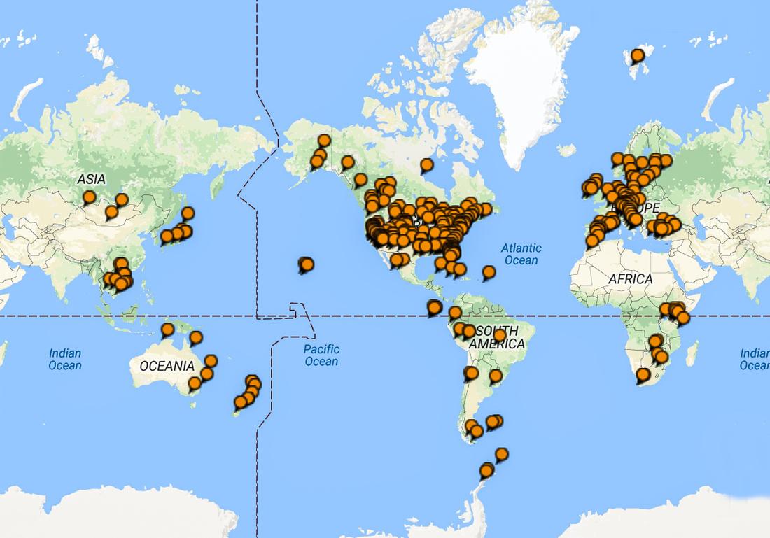 MJ Travel Map 2017