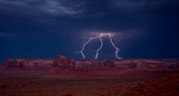 Lightning Over Monument Valley